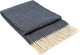 <b>Плед</b> серый, 200х140 см, Мериносовая шерсть, Кашемир ...