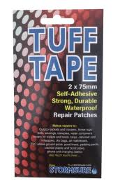 TUFF Tape <b>Self Adhesive Waterproof</b> Repair <b>Patches</b> 2-Pack 75mm