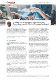 how does a project manager or application architect ensure    how does a project manager or application architect ensure alignment