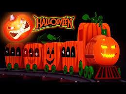 <b>Happy Halloween</b> Cartoons - Toy Factory Train Cartoons - YouTube