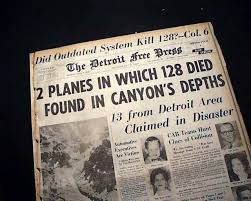 「1956, airplanes crashed in the air over grand canyon」の画像検索結果