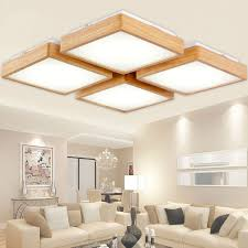 lighting for rooms. new creative oak modern led ceiling lights for living room bedroom lampara techo wooden lighting rooms