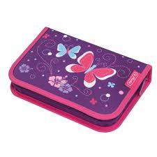 Купить <b>пенал 31</b> предмет Purple Butterfly <b>Herlitz</b>, цены в Москве ...