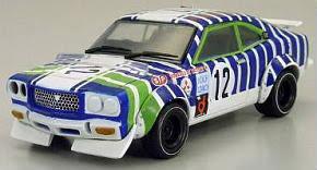 <b>Mazda</b> Savanna RX - 3 No. 12 1971 Yojiro Terada (White / <b>Blue Line</b>)