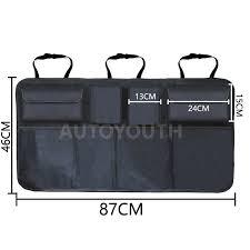 <b>Car Trunk Organizer Adjustable</b> Backseat Storage Bag Net High ...