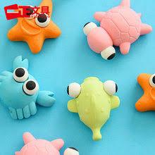 6 pcs set kawaii rubber cake dessert eraser set for kids novelty stationery