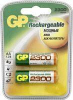 «<b>Аккумулятор GP 230AAHC AA</b> NiMH 2250 мАч, 2 шт ...
