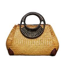 Women <b>Bamboo Bags</b> Female Summer <b>Beach Handbag</b> Lady ...