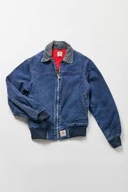 Slide View: 1: <b>Vintage</b> Carhartt <b>Denim Bomber</b> Jacket | Carhartt ...