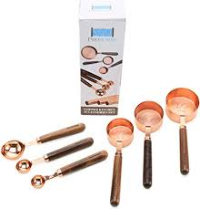Prohome Copper Measuring Cups & Spoons Set of 6 ... - Amazon.com