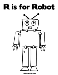 Small Picture R is for Robot Coloring Page E Busy Mind Pinterest Robot