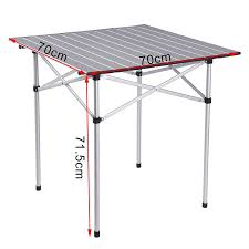 <b>Camping Table with</b> Bag Silver Outdoor | Woltu.eu