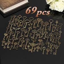 69pcs антикварные старинные Старый взгляд бронза скелета ...