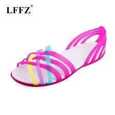 <b>Women</b> Sandals 2019 Summer <b>Fashion</b> Candy <b>Color</b> crocse ...