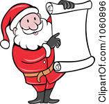 Image result for Free small clip art santa list