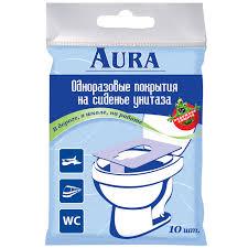 "Одноразовая защитная <b>накладка на унитаз</b> ""Aura"", 10 шт ..."