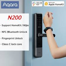<b>AQara N200 Smart Door</b> Lock 3D Fingerprint Password NFC Unlock ...