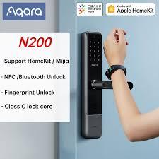 <b>AQara N200 Smart Door</b> Lock 3D Fingerprint Password NFC Unlock ...