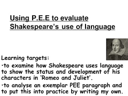 Romeo and Juliet  PEE and Coursework  Lesson by rwootton   Teaching Resources   TES