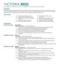 server resume sample restaurant server sample resume