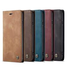 Samsung Galaxy A70 <b>Case</b> Shock-Absorption <b>PU Leather Flip</b> ...