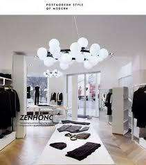 90cm Modern <b>16</b> Glass Ball Dining Room <b>G4 LED</b> Milk Glass ...