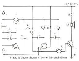 circuit diagram buzzer   circuit wiring diagramcircuit diagram of motor bike brake horn