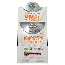 <b>Sport Organic Plant-Based Energy</b> Plus Focus - Sugar Free ...