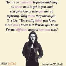 Kristen Stewart Quotes About Being Yourself. QuotesGram via Relatably.com