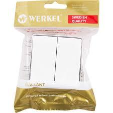 <b>Выключатель накладной Werkel</b> Gallant 2 клавиши, цвет белый в ...
