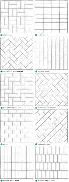 Hexagon Tile Floor Patterns Best 25 Subway Tile Patterns Ideas On Pinterest Shower Tile