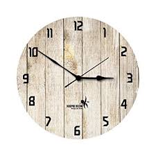 Buy Hoopoe Decor Rusted <b>Wooden Plank Wall Clock</b> Online at Low ...
