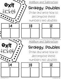 number chats exit tickets and math supplements tunstall s exit ticket example page