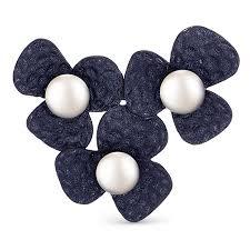 <b>Брошь</b>, серебро, жемчуг, <b>De Fleur</b>, 56002S1U