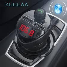 KUULAA <b>Bluetooth Car Charger</b> with FM Transmitter 3.4A Dual <b>USB</b> ...