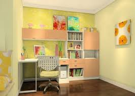 guest bedroom and office combination white ceramic flooring side open bookcase white wall paint silver metal bookshelf dark oak wood chairs bedroom office combination