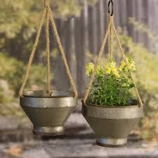 Metal Hanging <b>Planter Set</b> 2pc - VIP Home & <b>Garden</b> : Target