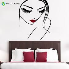 Girl Face <b>Makeup</b> Wall Decal Lips Eyes <b>Vinyl</b> Sticker Decals Woman ...
