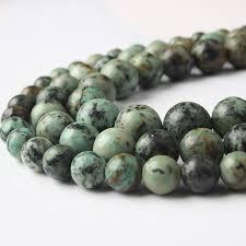 <b>LanLi</b> 6 8 10 12mm <b>Fashion natural</b> stones green African pine stone ...