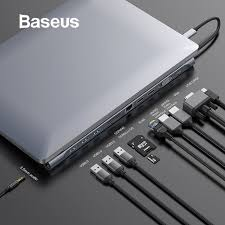 <b>Baseus</b> Upgrade <b>11 in 1</b> Multi USB C <b>HUB</b> for Macbook Pro for ...