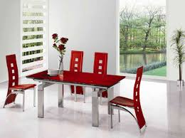 Red Dining Room Sets Fascinating Red Dining Room Table Cool Dining Room Interior Design