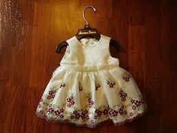 American <b>Princess</b> Floral <b>Embroidered Formal</b> / Party <b>Dress</b> - Sz. 3 ...