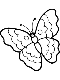 Small Picture Cartoon Butterfly in Sad Eyes Coloring Page Download Print