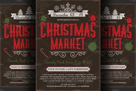 christmas event flyer poster flyer templates on creative market
