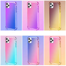 Iridescent Gradient Silicone <b>Case</b> For <b>IPhone</b> 11 Pro Max <b>Four</b> ...
