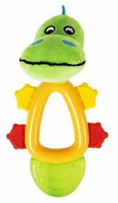 Купить Прорезыватель-погремушка <b>Happy Snail</b> Кроко по ...