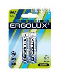 Купить <b>AAA</b> - <b>Ergolux</b> 1.2V 800mAh Ni-Mh NHAAA800BL2 (2 штуки ...