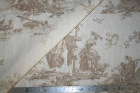 decor linen fabric multiuse: quotw country scene design discounted designer price on pure linen english print multiuse home decor fabric for drapery upholstery and other interior