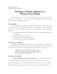 analysis essay examples writing a critical essay about literature