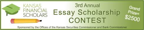 office of the kansas securities commissioner ks essay scholarship banner